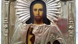 Ікона Ісуса Христа, латунь, позолота, 22,0х18,0 см, фото №5