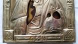 Ікона Ісуса Христа, латунь, позолота, 22,0х18,0 см, фото №6