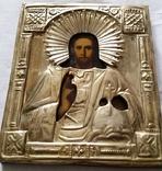 Ікона Ісуса Христа, латунь, позолота, 22,0х18,0 см, фото №8