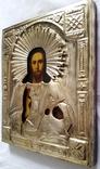 Ікона Ісуса Христа, латунь, позолота, 22,0х18,0 см, фото №9