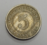 5 центов, 1920 г Стреитс Сеттлмент, фото №2
