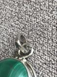 Серебряный кулон с малахитом (серебро 925 пр, вес 9,6 гр), фото №6