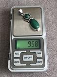 Серебряная подвеска с малахитом (серебро 925 пр, вес 9,3 гр), фото №3
