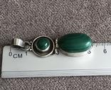 Серебряная подвеска с малахитом (серебро 925 пр, вес 9,3 гр), фото №7