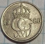 Швеция 25 оре 1980, фото №2