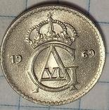 Швеция 25 оре 1969, фото №2
