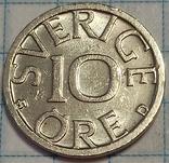 Швеция 10 оре 1988, фото №3