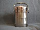 Термос пищевой с лотками 1.1 литра Нерж Нержавейка Нержавеющая сталь, фото №2