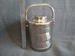 Термос пищевой с лотками 1.1 литра Нерж Нержавейка Нержавеющая сталь, фото №3