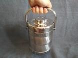 Термос пищевой с лотками 1.1 литра Нерж Нержавейка Нержавеющая сталь, фото №9