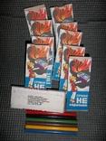"""Цветные карандаши """"Факел"""".СССР.10 упаковок., фото №2"""