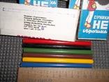 """Цветные карандаши """"Факел"""".СССР.10 упаковок., фото №3"""