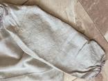 Сорочка из домотканого полотна - вышивка белым, фото №3