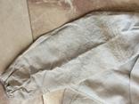 Сорочка из домотканого полотна - вышивка белым, фото №4