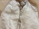 Сорочка из домотканого полотна - вышивка белым, фото №10