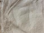 Сорочка из домотканого полотна - вышивка белым, фото №13