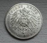 5 марок 1914 г. Пруссия, серебро, фото №3