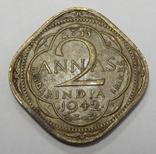 2 анна, 1942 г Индия, фото №2