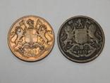 2 монеты по 1/4 анна, Британская Индия, 1835 г., фото №3