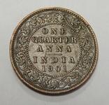 1/4 анна, 1901 г Индия, фото №2