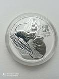 1-а в серії Lunar III Рік Миші 2020 1 унція срібла Австралія, фото №2