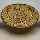 20 франков. 1892. Тунис (золото 900, вес 6,43 г), фото №9