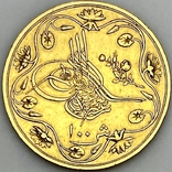 100 пиастров. Османский Египет. Abdul Hamid II 1293/12 AH  1876. (вес 8,49 г), фото №9