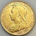 1 фунт (соверен). 1894. Виктория I. Великобритания (золото 917, вес 7,97 г), фото №2