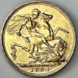 1 фунт (соверен). 1894. Виктория I. Великобритания (золото 917, вес 7,97 г), фото №12