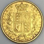 1 фунт (соверен). 1851. Великобритания (золото 917, вес 7,96 г), фото №4
