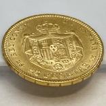 25 песет. 1880. Альфонсо XII. Испания (золото 900, вес 8,09 г), фото №11