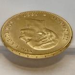 25 песет. 1880. Альфонсо XII. Испания (золото 900, вес 8,09 г), фото №12