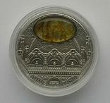 Ниуэ 5 долларов 2016 Amber Art Baroque серебро 2 OZ silver Niue Барокко Искусство янтарь, фото №5