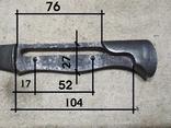 Огнеупорная пластина штык ножа Бучер копия, фото №6