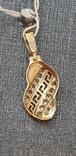 Золотой кулон с фианитами новый, фото №7