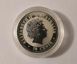 "Монета 50 центов Австралия ""Год свиньи"", 2007 го, серебро, фото №2"