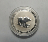 "Монета 50 центов Австралия ""Год свиньи"", 2007 го, серебро, фото №8"