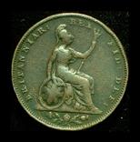 Великобритания 1 фартинг 1834, фото №3