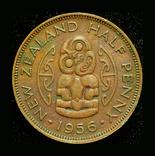 Новая Зеландия 1/2 пенни 1956, фото №2