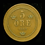 Швеция 5 эре 1899, фото №2