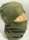 Балаклава флис олива маска подшлемник шапка, фото №2