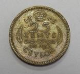 25 центов, 1943 г Цейлон, фото №2