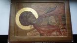 Икона Архангел Михаил Ковчег. Школьное письмо. 30 см х 40 см., фото №5