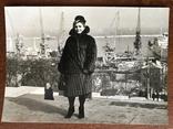 Одесса Дама в шубе Порт Краны, фото №2