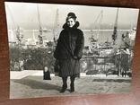 Одесса Дама в шубе Порт Краны, фото №3