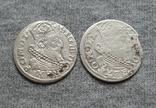 Литовские гроши 1627 года. Сиг. ІІІ Ваза ( 2 штуки)., фото №3