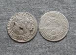 Литовские гроши 1627 года. Сиг. ІІІ Ваза ( 2 штуки)., фото №4