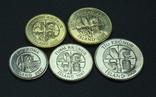 Исландия, набор монет 2000-х годов, 5с, фото №3