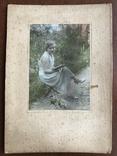 1934 Девушка с книгой Цветы, фото №2