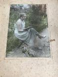 1934 Девушка с книгой Цветы, фото №3